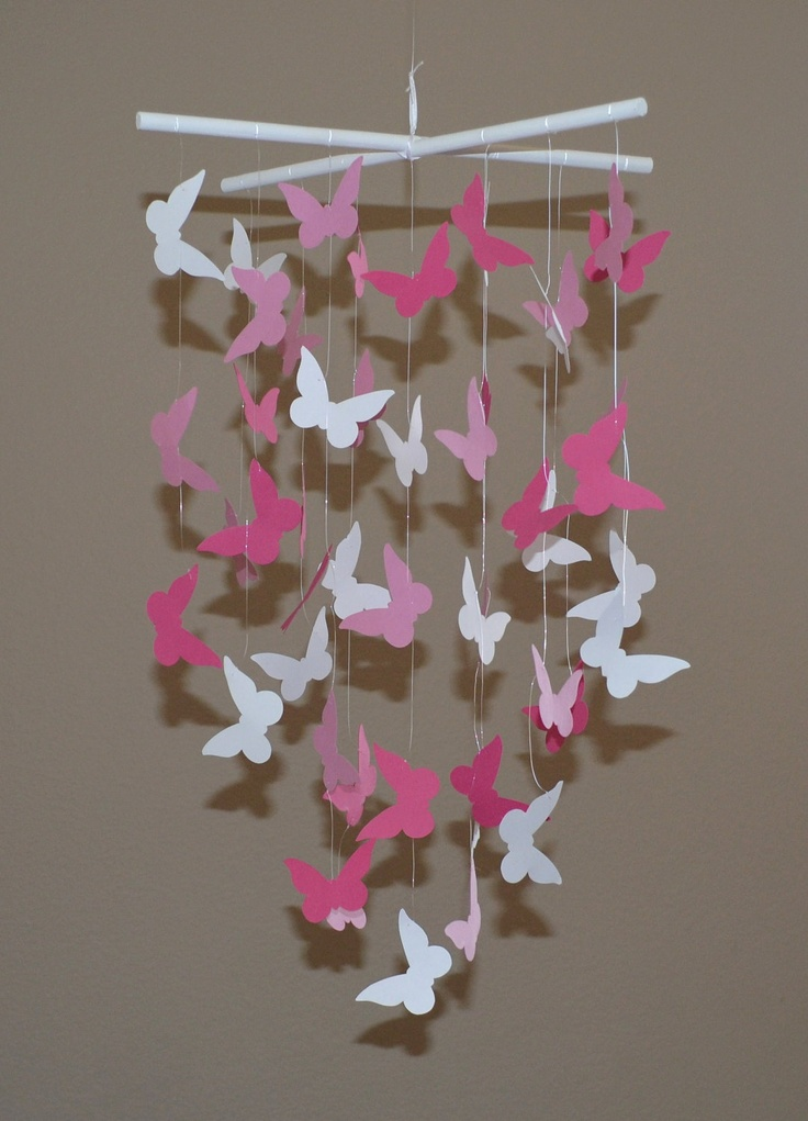 Pink Butterfly Mobile Girls Room DecorParty by EverydaysBeautiful, $18.50  Kids ...