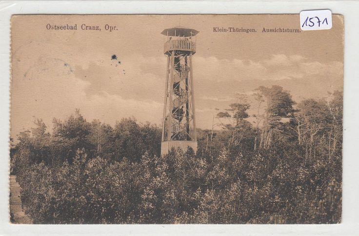 1571, Cranz Klein - Thüringen Aussichtsturm, gelaufen 1912 !