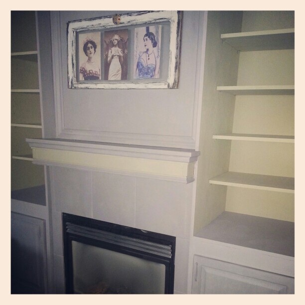Fire place make over using van gogh Chivalry & Muse with a clear wax finish