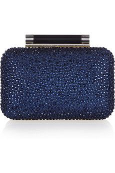 VIDA Leather Statement Clutch - valletta blues by VIDA ei2yenFb