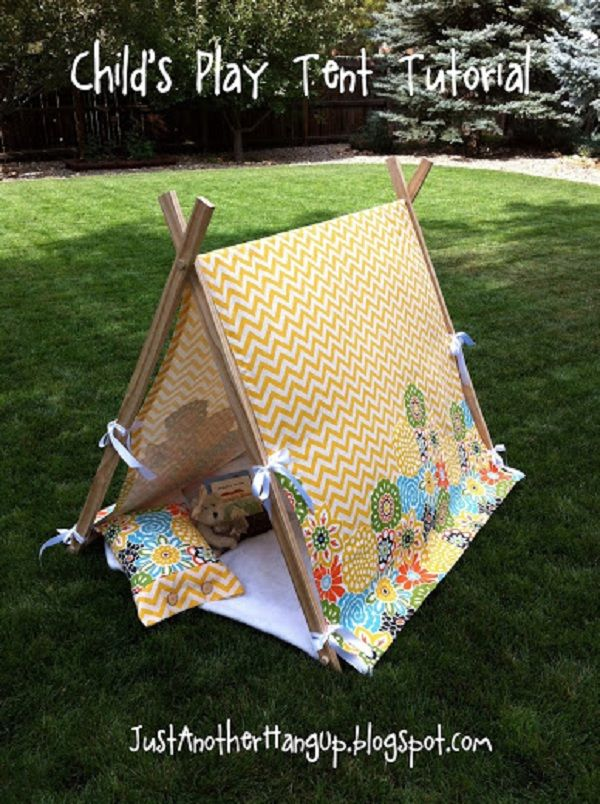 Child's Play Tent Tutorial..so need this for the grandkids.    GOOD ONE