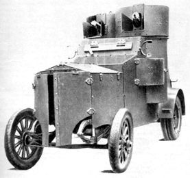 Russian WWI armored car Fiat.