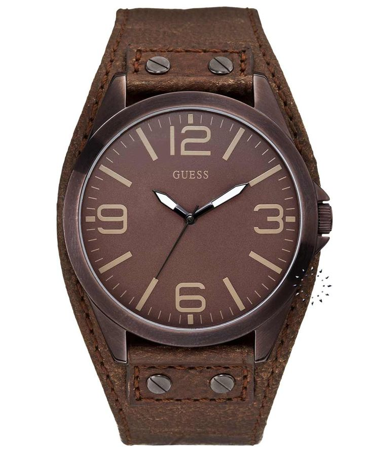 GUESS Brown Leather Strap Brown Dial Η τιμή μας: 118€ http://www.oroloi.gr/product_info.php?products_id=36270