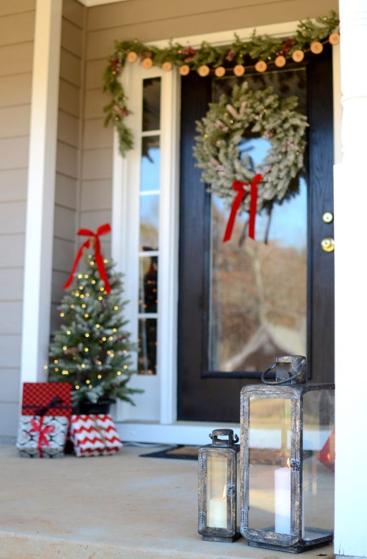 7783 best dreaming of a white christmas images on pinterest farmhouse christmas front porch with hdcholidayhomes tour