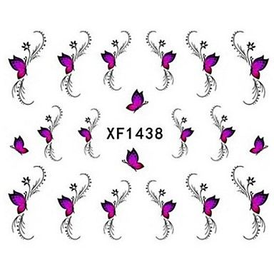 water transfer printen nagel stickers xf1438 - EUR € 1.93