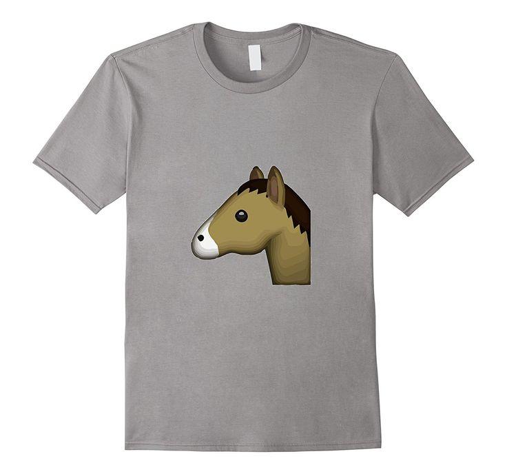 Horse Emoji T-Shirt Animal Unicorn Zoo Ride Compete Race