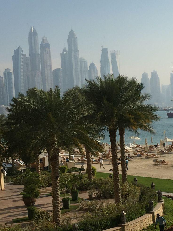 Skyline from the Fairmont Hotel, Palm Jumeirah Island, Dubai. Photography: Juhaina Al Fardan