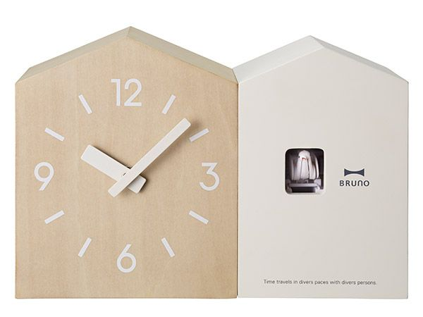 arne-interior | Rakuten Global Market: Cute cuckoo clock wall cuckoo clock cuckoo clock wall clock clocks with Dove fashionable Scandinavian wood cute fashionable children's room children kids kids pop BCD001 クックーツインハウスク rock white red white red Interior presents gift