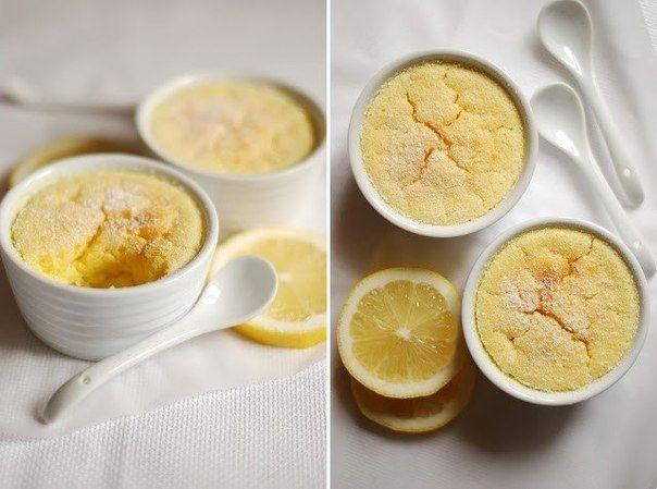 Фото к рецепту: Быстрый лимонный пудинг