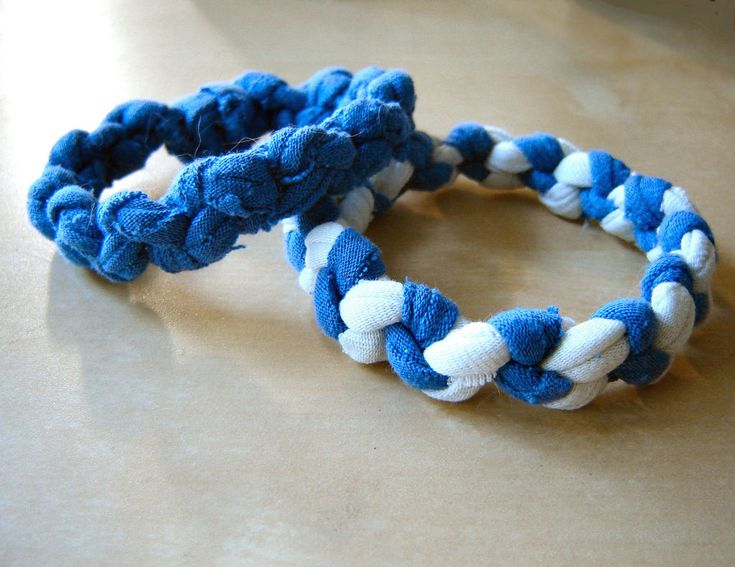 Tshirt Bracelwt ~ a fun way to recycle a child's favorite shirt