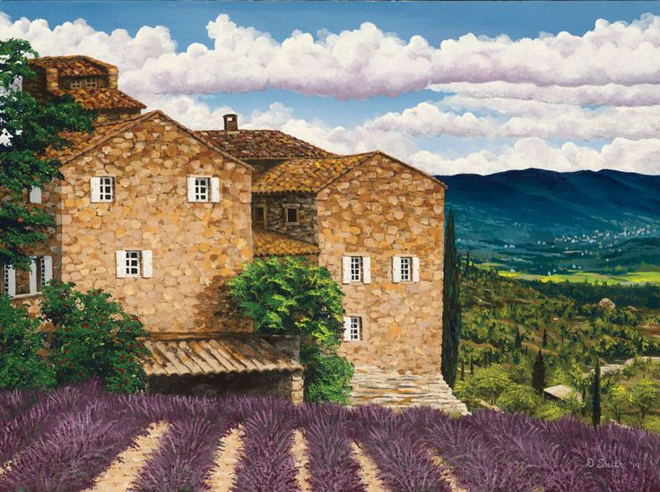 Painting for Sami's apartment. French wine country