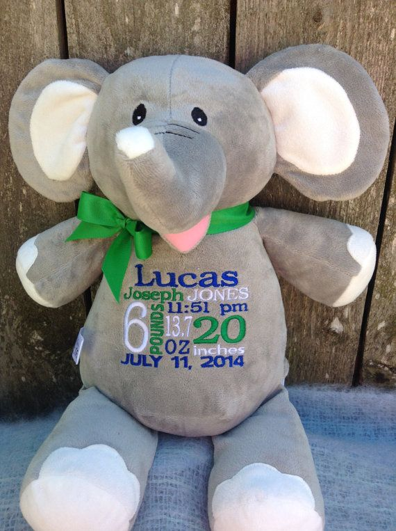 New baby 147 pinterest monogrammed baby gift personalized baby gift by worldclassembroidery 4299 grey elephant baby gift baby shower negle Images