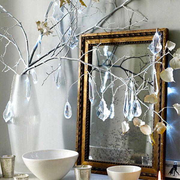 Crystal drops on a Christmas tree