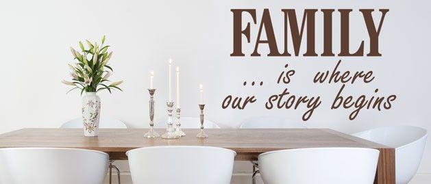 Family is (1564) / Samolepky na zeď, stěnu a nábytek