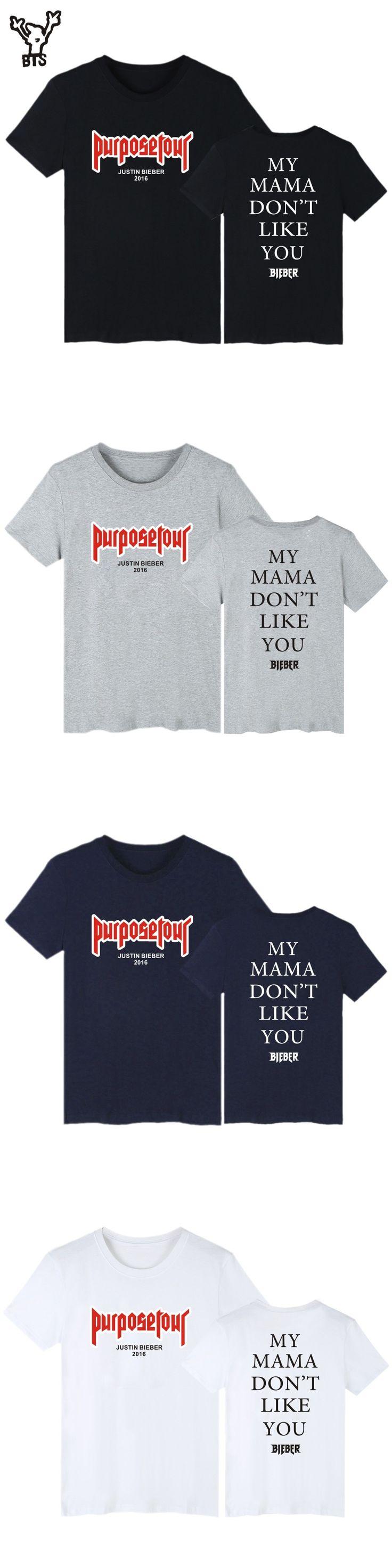 BTS Justin Bieber Purpose Tour Pop Short Sleeve Tshirts New Style Fashion Funny Casual T-Shirts  Men/Women T-shirt Plus Size 4XL
