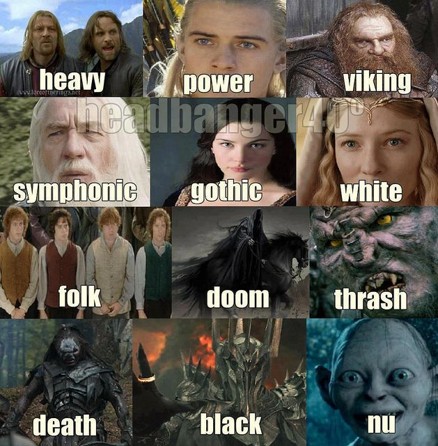 all genres of metal music in just one (okay, three) movie(s)