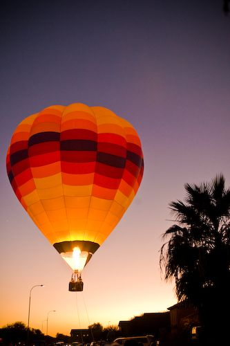 Chandler, Arizona sunset balloon ride www.AerogelicBallooning.com