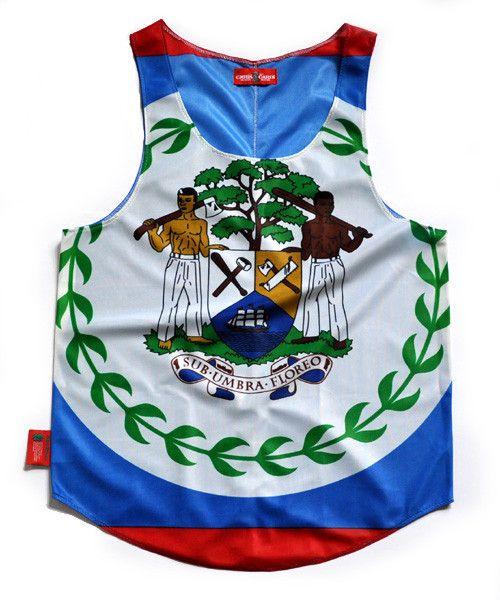 Belize Flag Tank Top