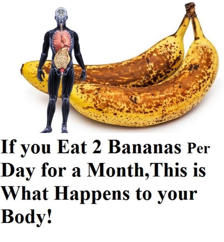 If you Eat 2 Bananas per Day for a Month,This is what Happens to your Body!