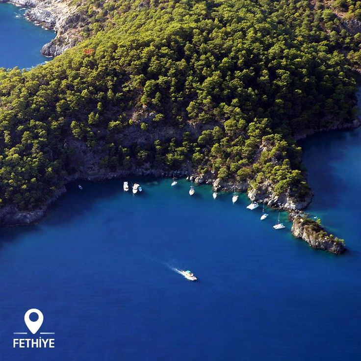One peninsula, four separate coves. In Fethiye, there are dozens of such peninsulas, and just about countless pristine coves to explore...