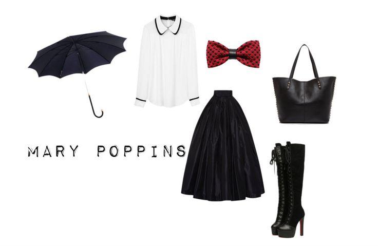 Mary Popping. Disfraces de último momento en... http://www.1001consejos.com/8-sencillos-disfraces-caseros-para-mujer/