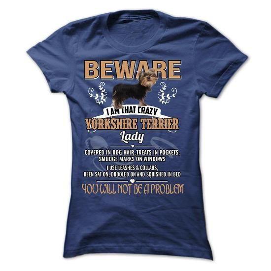 Yorkshire dog lady T Shirts, Hoodies. Check price ==► https://www.sunfrog.com/LifeStyle/Yorkshire-dog-lady.html?41382