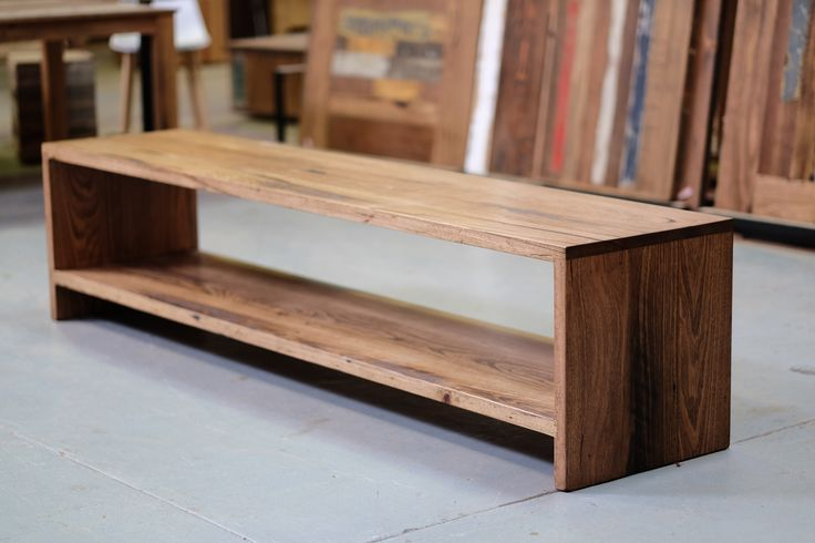 Recycled timber entertainment unit. Price n/a.