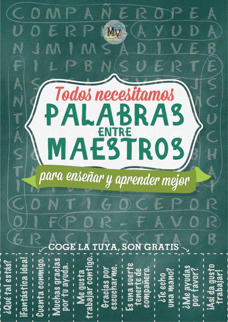 Palabras entre maestros, ¡qué importantes son! http://elblogdemanuvelasco.blogspot.com.es/2013/08/palabras-entre-maestros.html