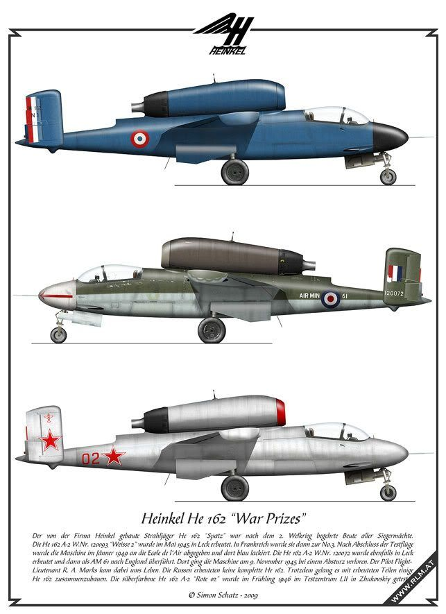 https://flic.kr/p/aGeXQk | Heinkel He 162 captured