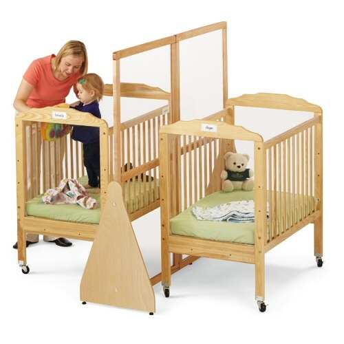 25 best cribs for twins images on pinterest cribs for for Best baby cribs for small spaces
