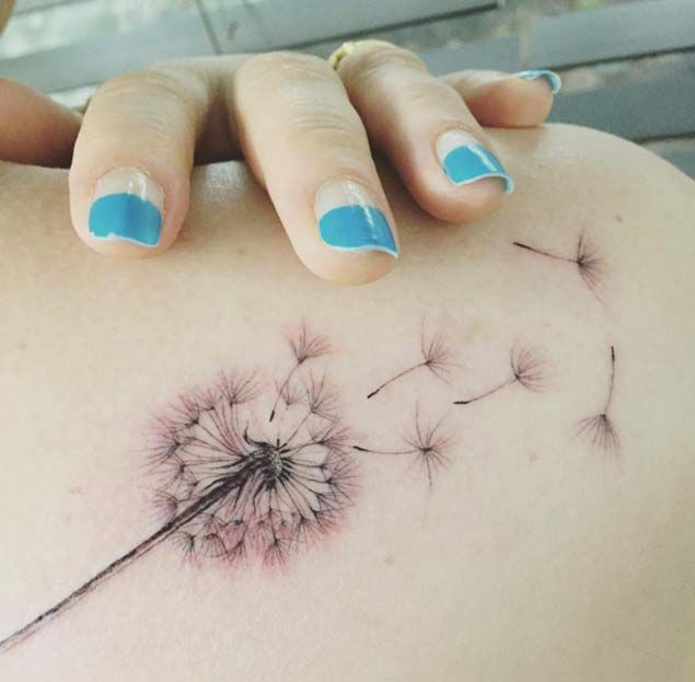 150 Most Enticing Dandelion Tattoos And Their Meanings awesome  Check more at https://tattoorevolution.com/dandelion-tattoos-meanings/