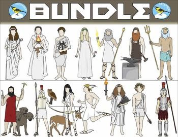 This+clip+art+packet+includes+15+images+of+the+gods+and+companionsof+Greek+mythology.Images+are+provided+in+color+and+blackline.+Please+see+the+list+below.-+Cerberus-+Hades-+Hera-+Poseidan-+Zeus-+Apollo-+Ares-+Artemis+with+deer+(separate+files)-+Athena-+Demeter-+Aphrodite-+Dionysus-+Hephaestus-+Hermes-+HestiaThis+product+is+a+.zip+file.