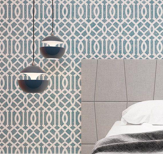 Marokkanische Motiv Wand Schablone klassische von StencilsLabNY