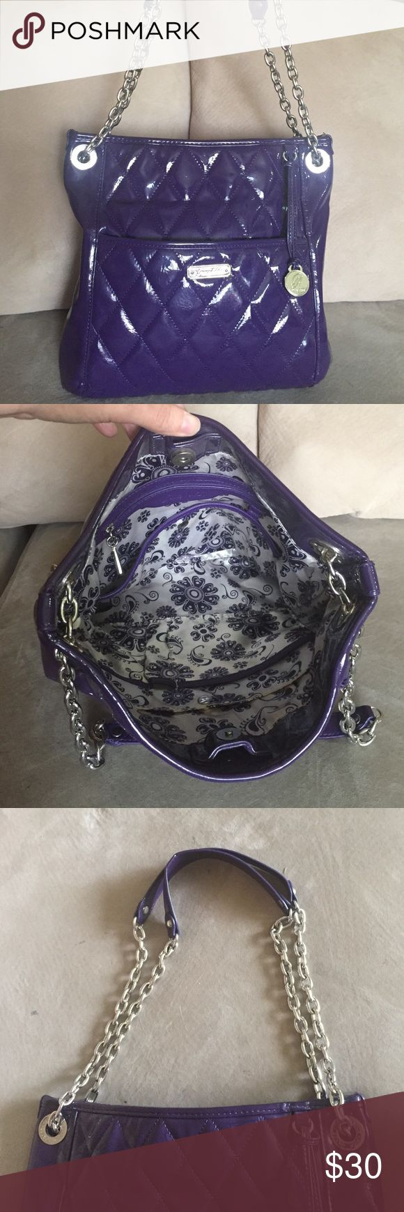 Grace Adele Grape Bag/Crossbody Like new over shoulder purse that can easily be used as a cross body. Grace Adele ALEX in grape. Grace Adele Bags Crossbody Bags