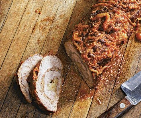 Braised Beef Braciole Stuffed with Basil and Mozzarella