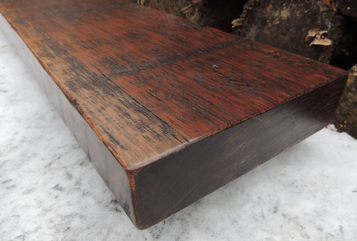 Reclaimed Stained Barn Beam Rustic Douglas Fir Fireplace