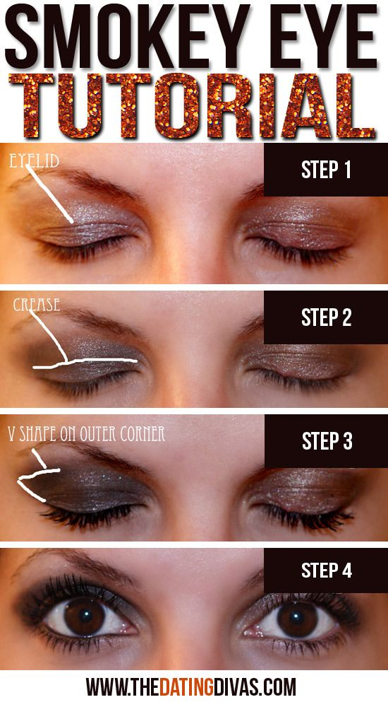 A quick and easy way to do a smokey eye fast without looking overdone. www.TheDatingDivas.com #smokeyeye #makeup #tutorial