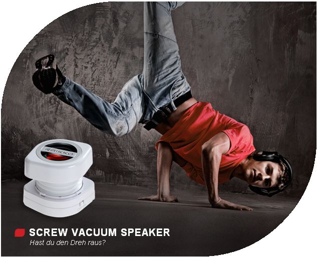 RAIKKO® SCREW Vacuum Speaker