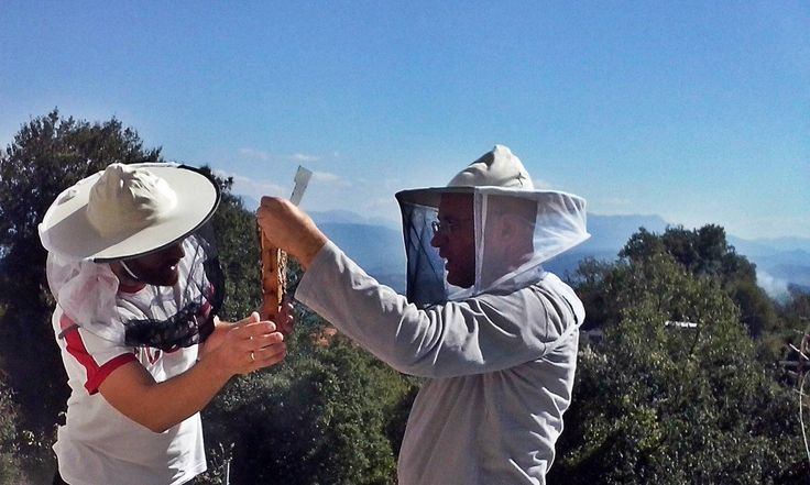 Στράτος και Νίκος, κατά την επιθεώρηση στα ορεινά της Πίνδου.
