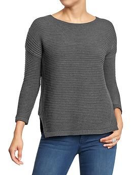 Women's Boxy Boat-Neck Sweaters | Old Navy