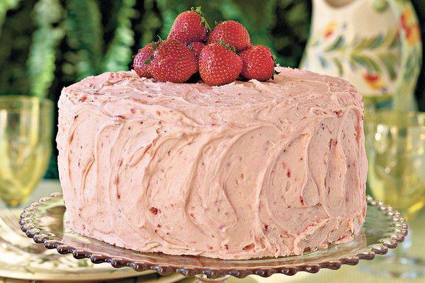 Triple-Decker Strawberry Cake