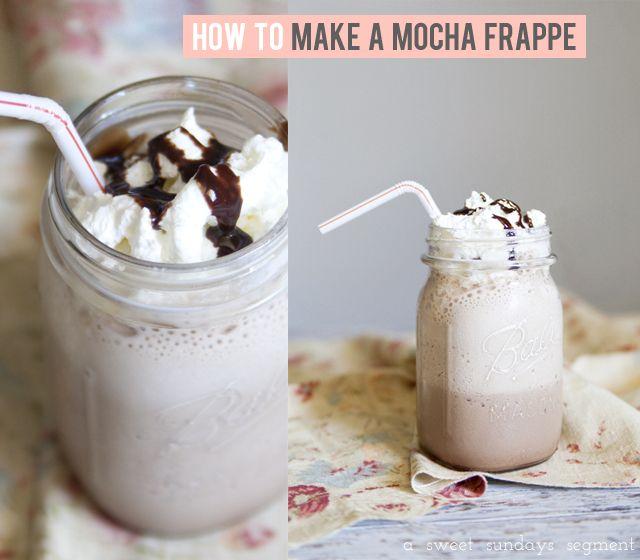 For The days I can't afford Starbucks!: Chocolates Syrup, Affordable Starbucks, Easy Mocha, Mocha Frappe 3, Mason Jars, Mocha Frappe Yum, Mocha Recipe, Ice Mocha, Mochafrappe 1