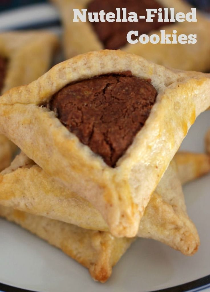 Nutella-filled hamantaschen from Mother Would Know #Purim