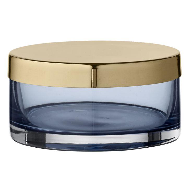 Tota jar small - navy/brass, H 4,5 cm | D 9 cm