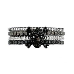 White & black diamond  skull & crossbones multivendor. He'll yes!!!  Skull and Crossbones Ring by Hidalgo, HID10159, Hidalgo Rings   Elizabeta Jewelry
