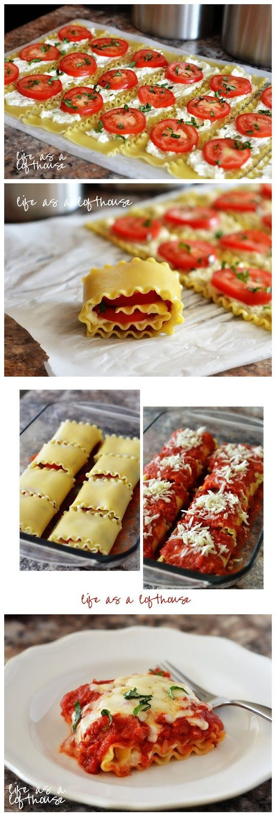 Caprese Lasagna Roll Ups - kiss recipe