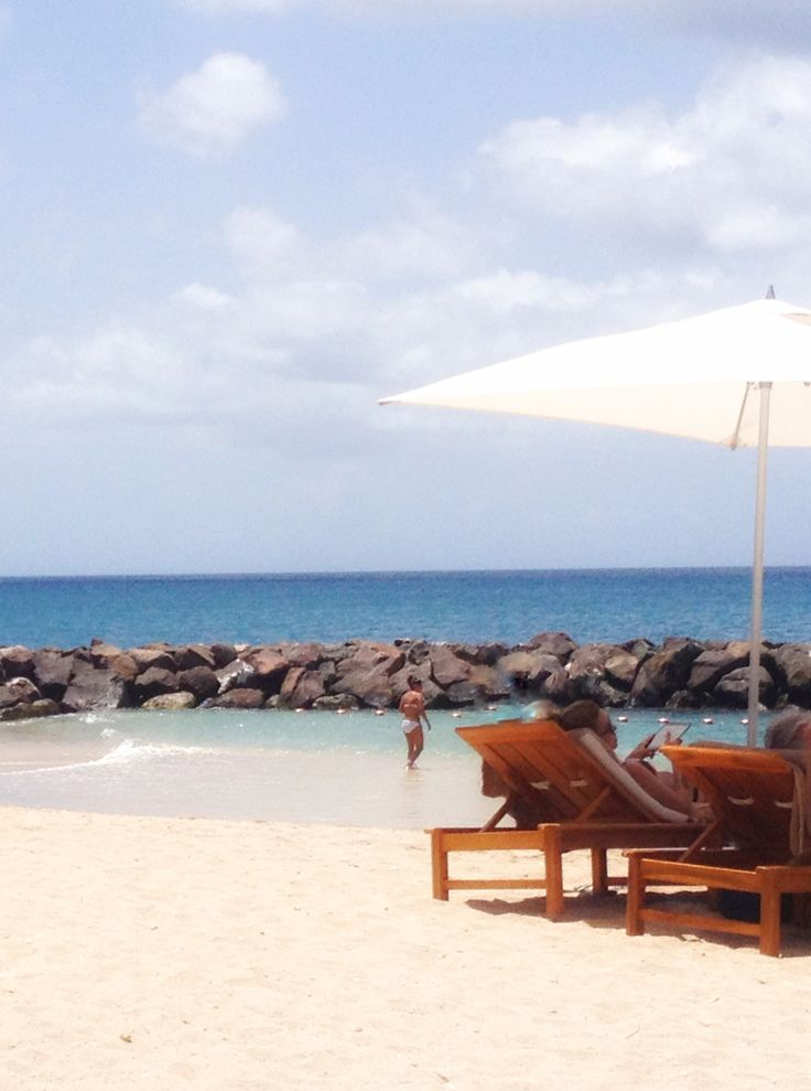The beach at Sandals in Grenada.