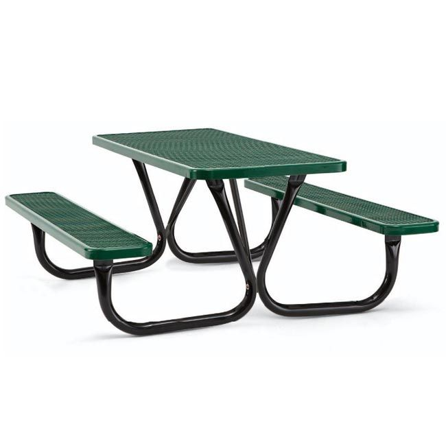 Classic Extra Heavy Duty Outdoor Picnic Table With Thermoplastic Coated Metal Tops And Benches