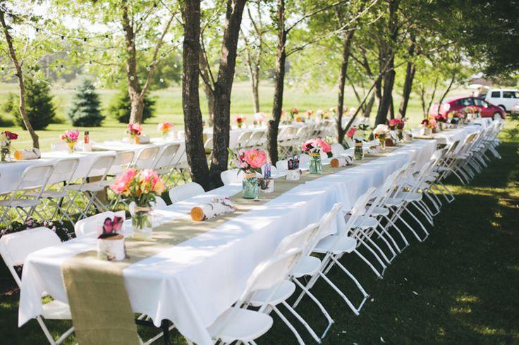Simple Backyard Wedding Reception Ideas :  Weddings, Rustic Wedding Chic, Tables Runners, Backyard Weddings