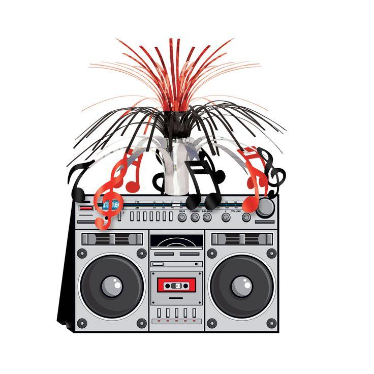 Centrotavola stereo ghetto Anni '80 su VegaooParty, negozio di articoli per feste. Scopri il maggior catalogo di addobbi e decorazioni per feste del web,  sempre al miglior prezzo!